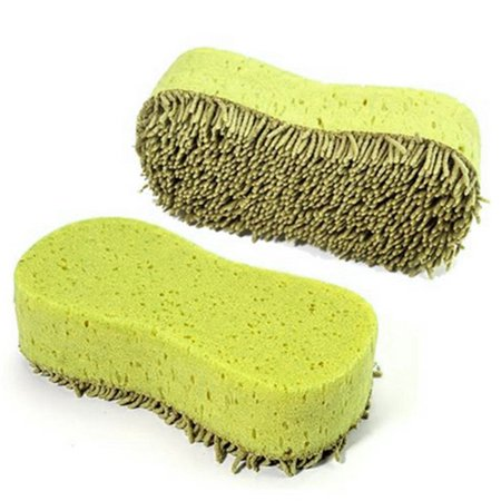Practical Cleaning Washing Cleaner Coral Microfiber Sponge Brush Auto Car