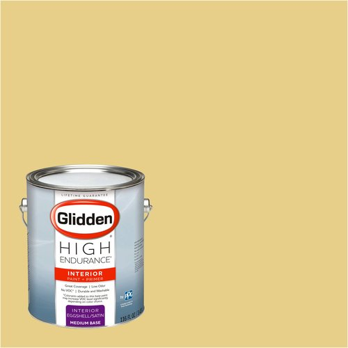 Glidden High Endurance, Interior Paint and Primer, Vintage Yellow, #45YY 61/368