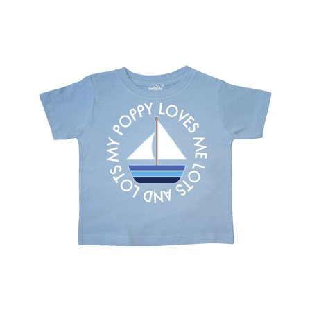 My Poppy Loves Me Grandson Sailboat Boys Toddler T-Shirt