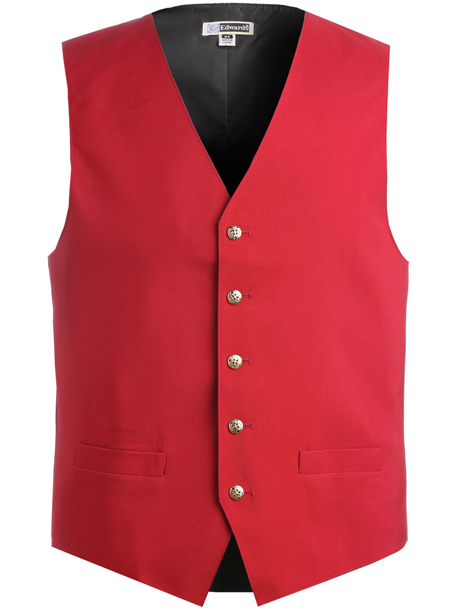 Ed Garments Men's Textured Weave Fully Lined Economy Vest, RED, Large Tall