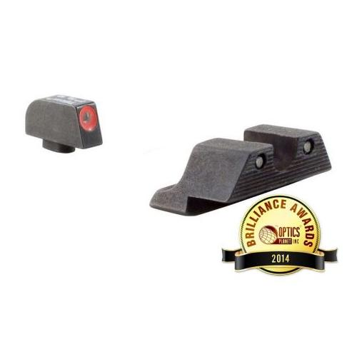 Trijicon For Glock Hd Night Sight Set Orange Front Outline Yellow Rear by Trijicon
