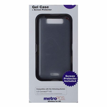 Metropcs Soft Gel Case For Lg Connect 4G   Smoke   Gray