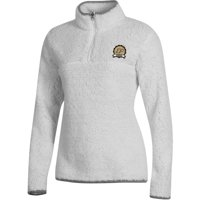 Women's Russell Athletic White Purdue Boilermakers Sherpa Quarter-Zip Pullover Jacket