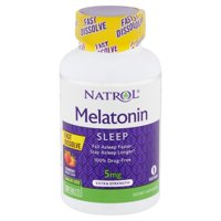 Natrol Extra Strength Melatonin Sleep Strawberry Flavor Tablets Value Size, 5 mg, 150 count