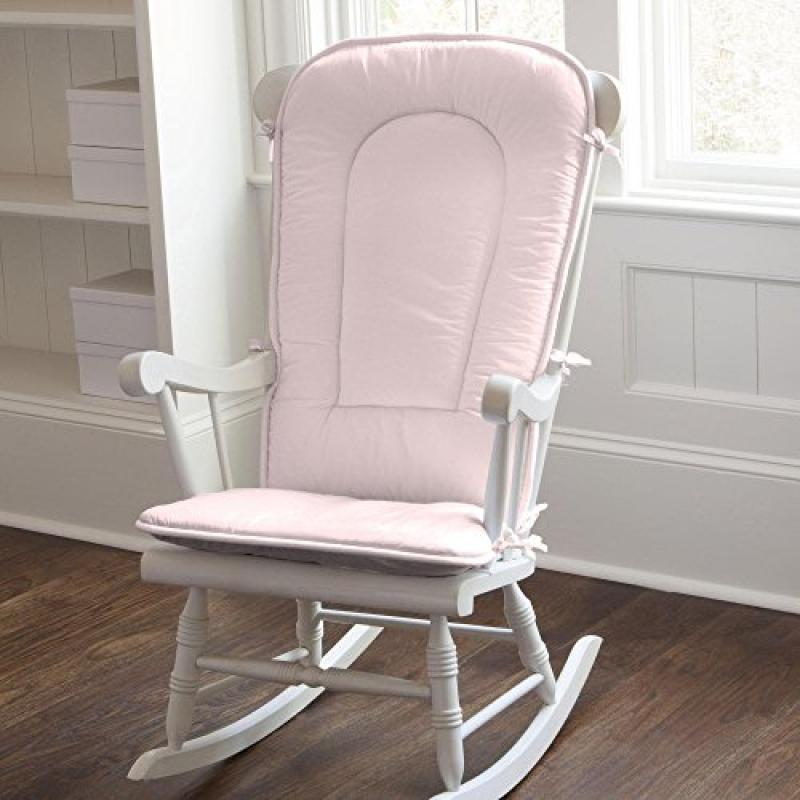 Carousel Solid Pink Rocking Chair Pad