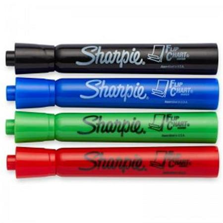 Sanford SAN22474BN Marker Flip Chart 4 Colors Per Pack Set, Black, Red, Blue & Green - Pack of 6