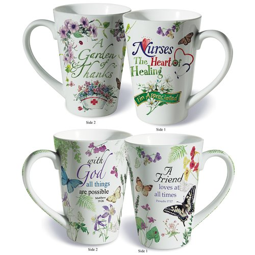 Lissom Design 2 Piece Friends and Nurses Fine Porcelain Gift Mug Set