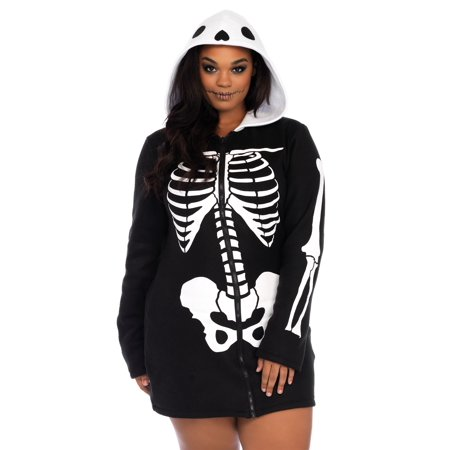 4abdcae2686c7 Women's Plus Size Cozy Skeleton Costume | Walmart Canada