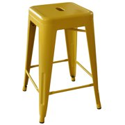 AmeriHome Loft Gold 24 Inch Metal Bar Stool 2 Piece by Metal Bar Stools
