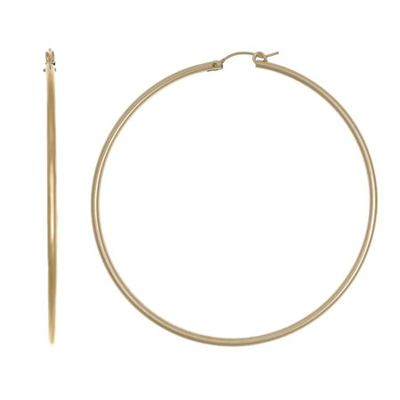 01fca26c49e 14k Yellow Gold Filled 70 mm Hoop Earrings Light Weight
