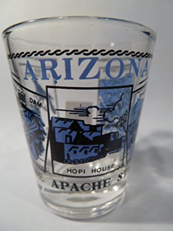 Arizona Scenery Blue Shot Glass by World By Shotglass