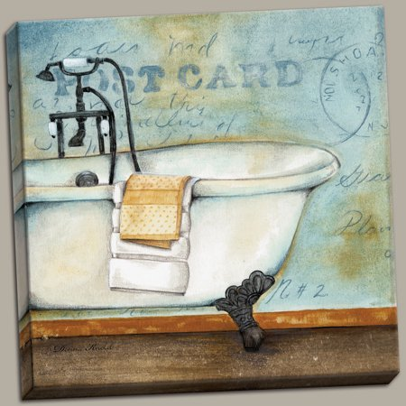 Canvas Soothing Bath Best Classy Amazing Post French Modern Vintage Quality Postcard