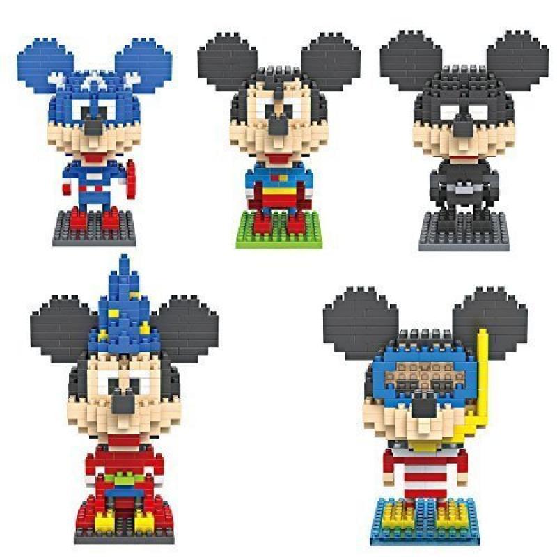 1260 PCS LOZ Diamond Blocks Mickey Mouse Batman,superman,captain,Magician,diver 5 Set... by LOZ