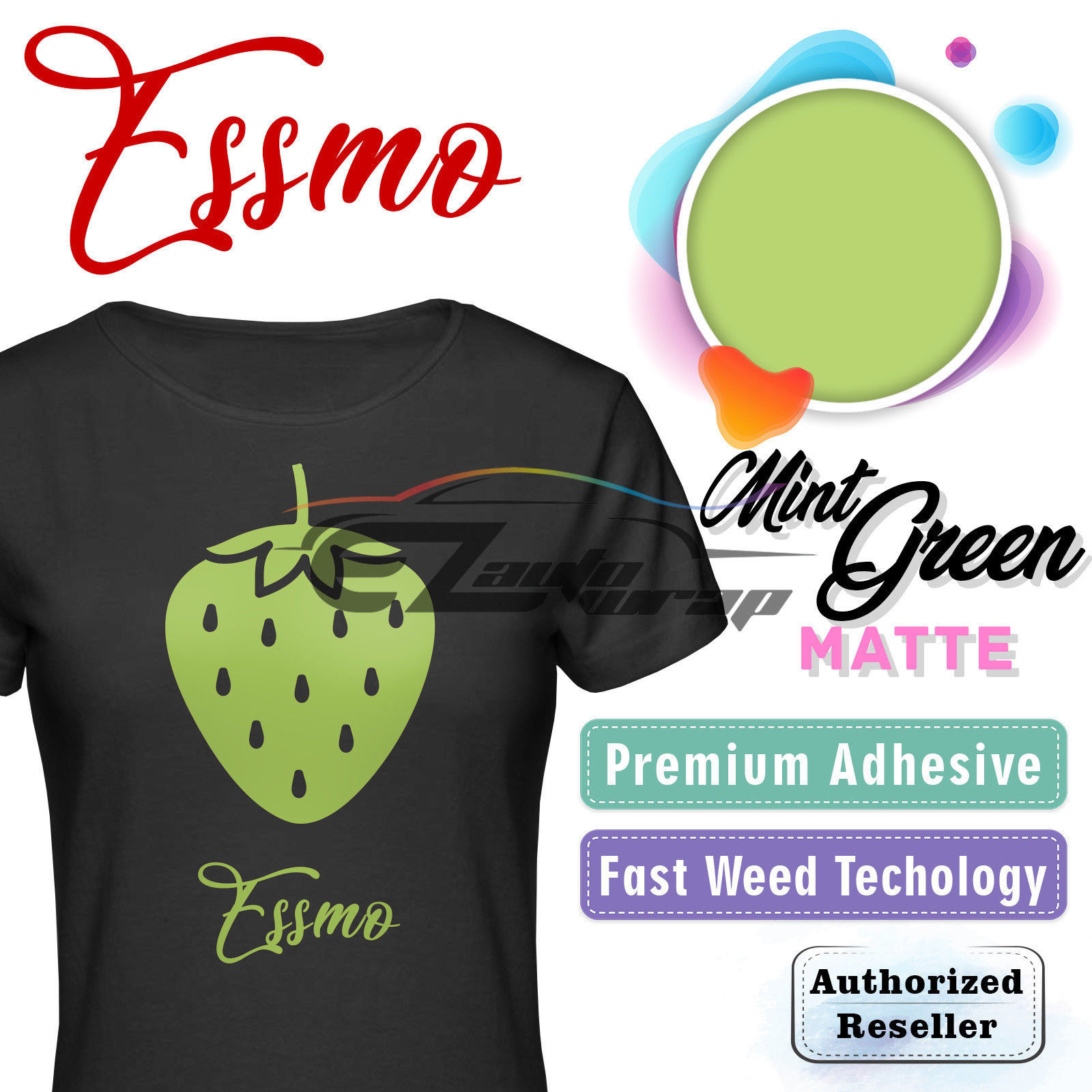 "ESSMO Mint Green Matte Solid Heat Transfer Vinyl HTV Sheet T-Shirt 20"" Wide Iron On Heat Press 20""x24"""