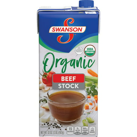 (3 Pack) Swanson Organic Beef Cooking Stock, 32 oz. Carton