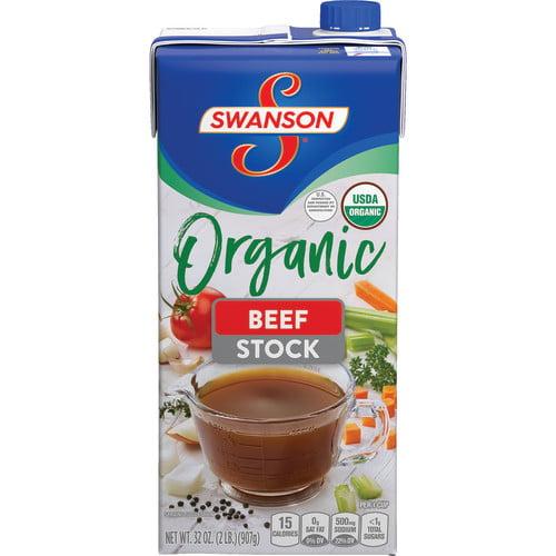 (3 Pack) SwansonOrganic Beef Cooking Stock, 32 oz. Carton