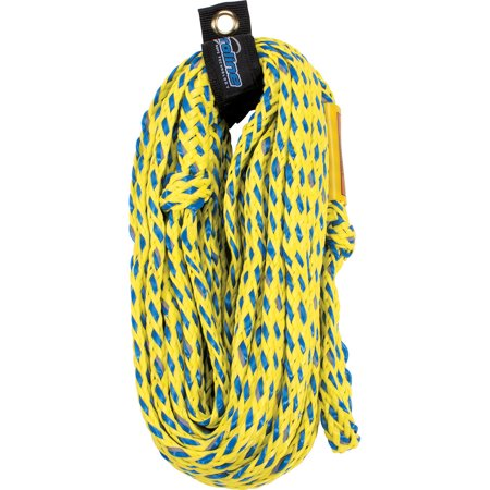 Riding Rope - CWB Connelly Proline 60 Foot 4 Ride Tube Rope with Braided Neoprene, Volt Blue