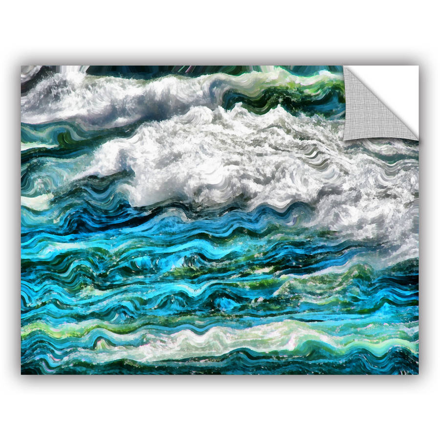 "ArtWall Kevin Calkins ""Cresting Waves 2.0"" ArtAppealz Removable Wall Art"