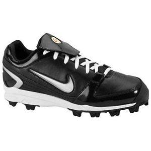 New Nike Unify Keystone Girls 11C Softball Molded Cleats Black White by Nike