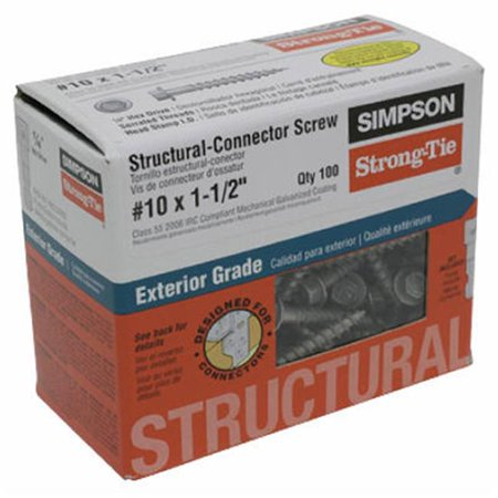 Simpson Strong Tie SD10112R100 No. 10 x 1.5 in. Connector Screw - image 1 of 1