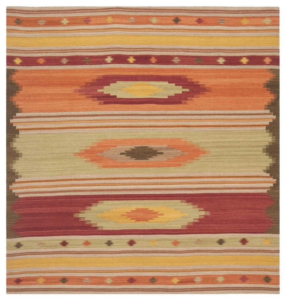 Traditional Square Area Rug in Multicolor