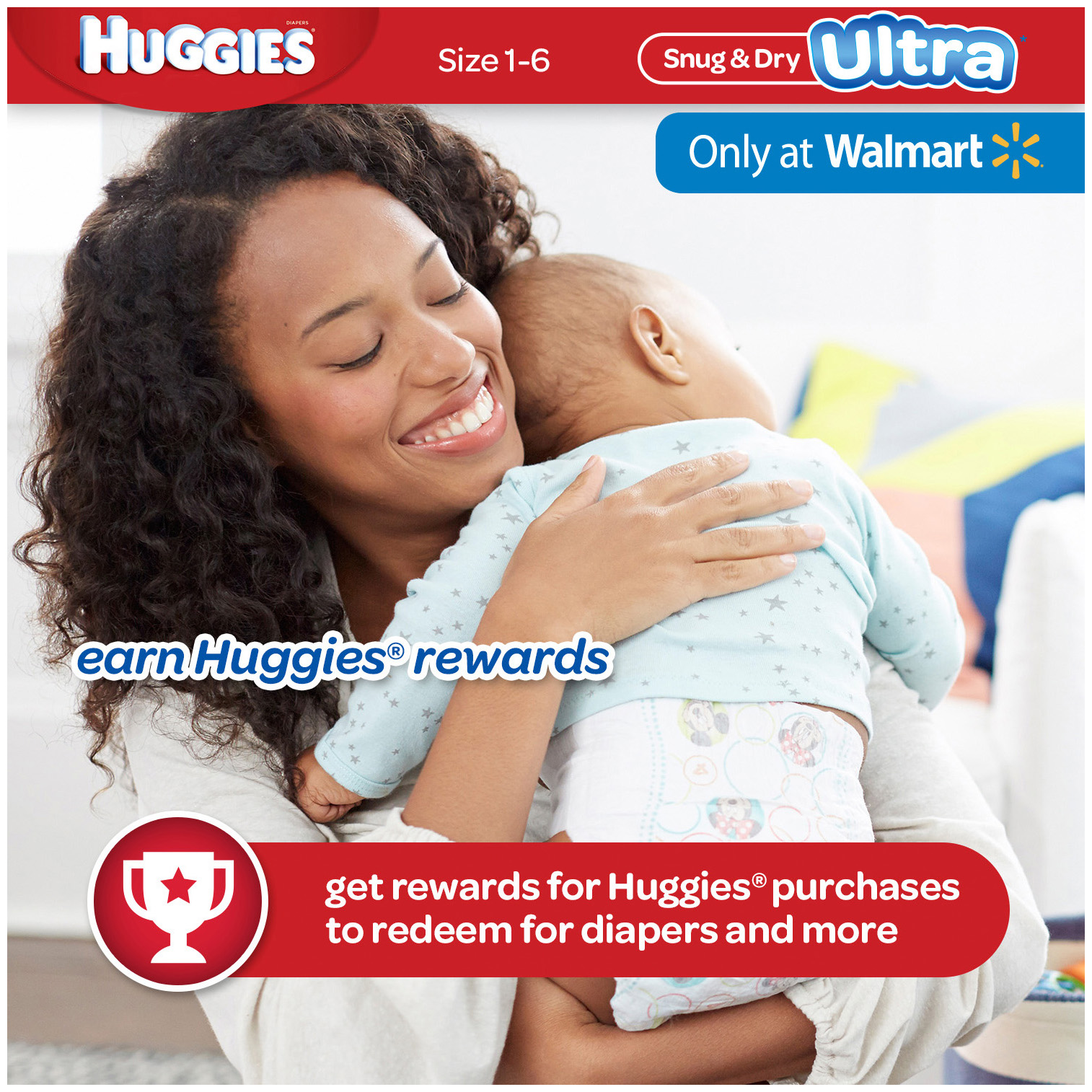 HUGGIES Snug & Dry Ultra Diapers, Size 1, 148 Diapers - Walmart.com