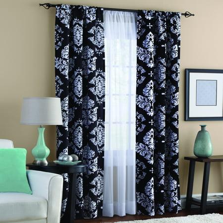 Clic Noir Black And White Window Curtain