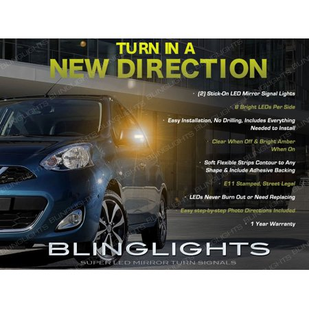 Nissan Micra LED Mirror Turn Signal Light Kit Set Signalers Pair Led Turn Signal Set