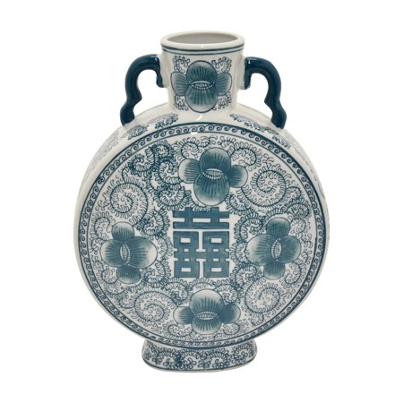 Three Hands 12.75 in. Oriental Floral Ceramic Table Vase](Oriental Vase)