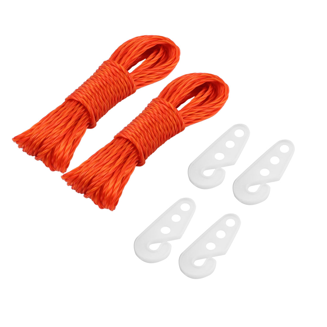 Laundry Nylon Clothesline Clothes Towel Hanging Line Rope String 10M Yellow 2pcs