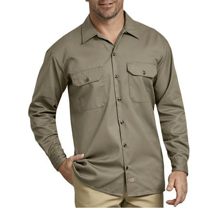 Dickies Long Sleeve Oxfords - Men's Original Fit Long Sleeve Twill Work Shirt