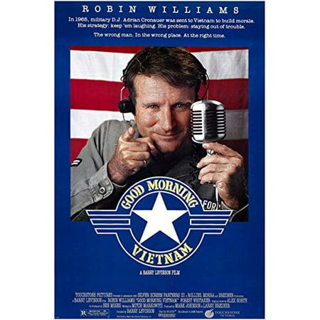 Halloween Dj Poster (Robin Williams Good Morning Vietnam Movie Poster Army Dj Comedy 24X36)