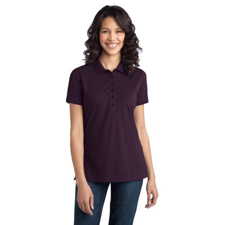 Port Authority L555 Ladies Basic Polo Shirt - Aubergine Purple - 3X-Large