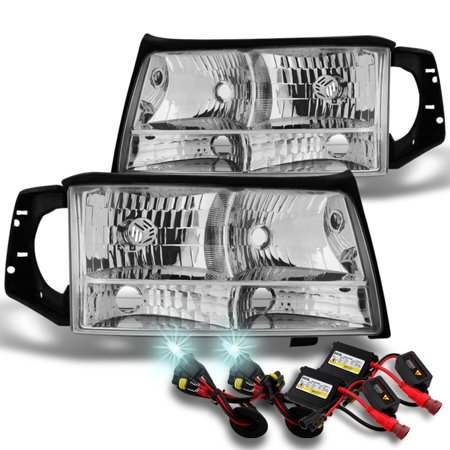 Fit 1997 1998 1999 Cadillac Deville L+R Side Headlights + 8000K HID