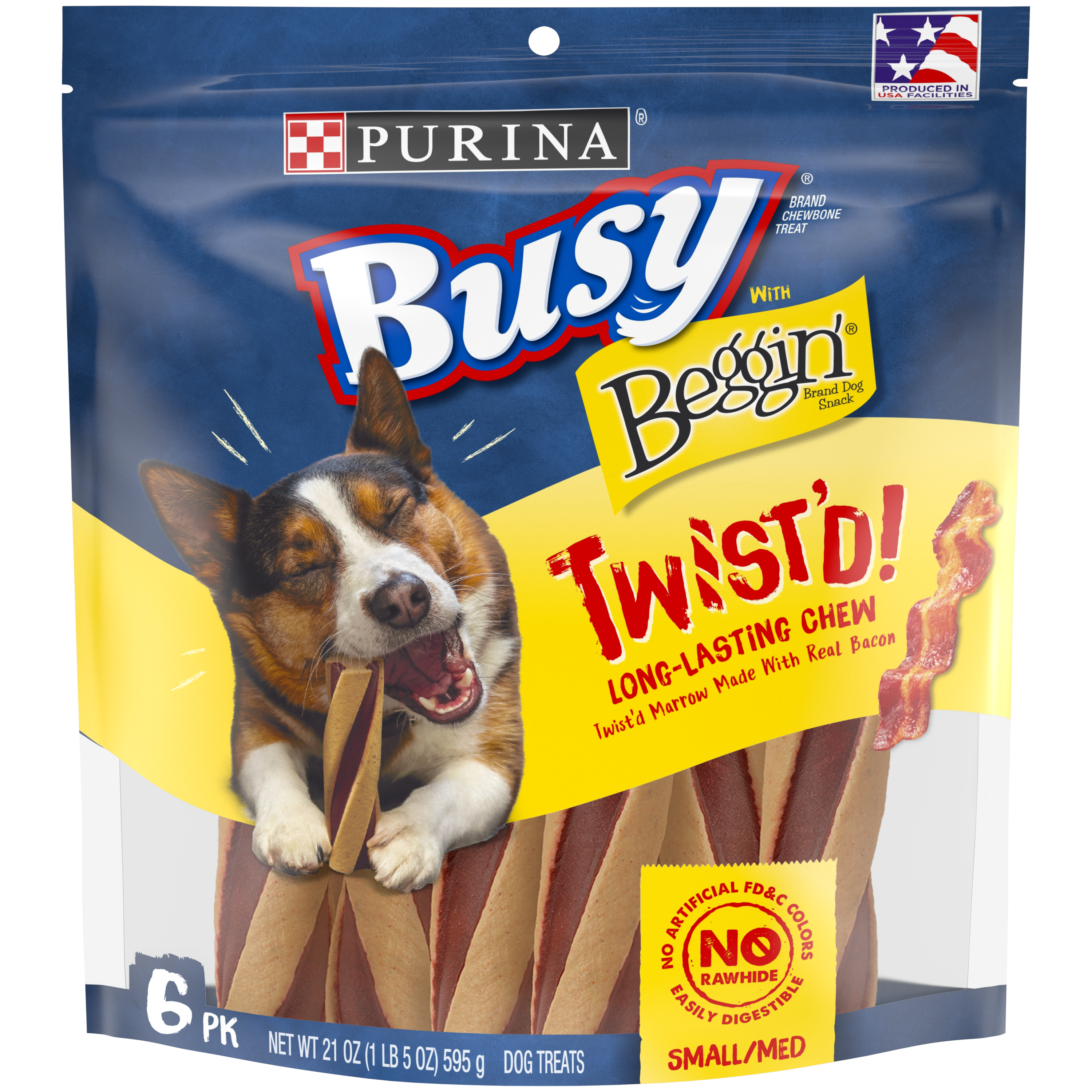 Purina Busy With Beggin' Small/Medium Breed Dog Treats; Twist'd - 6 ct. Pouch