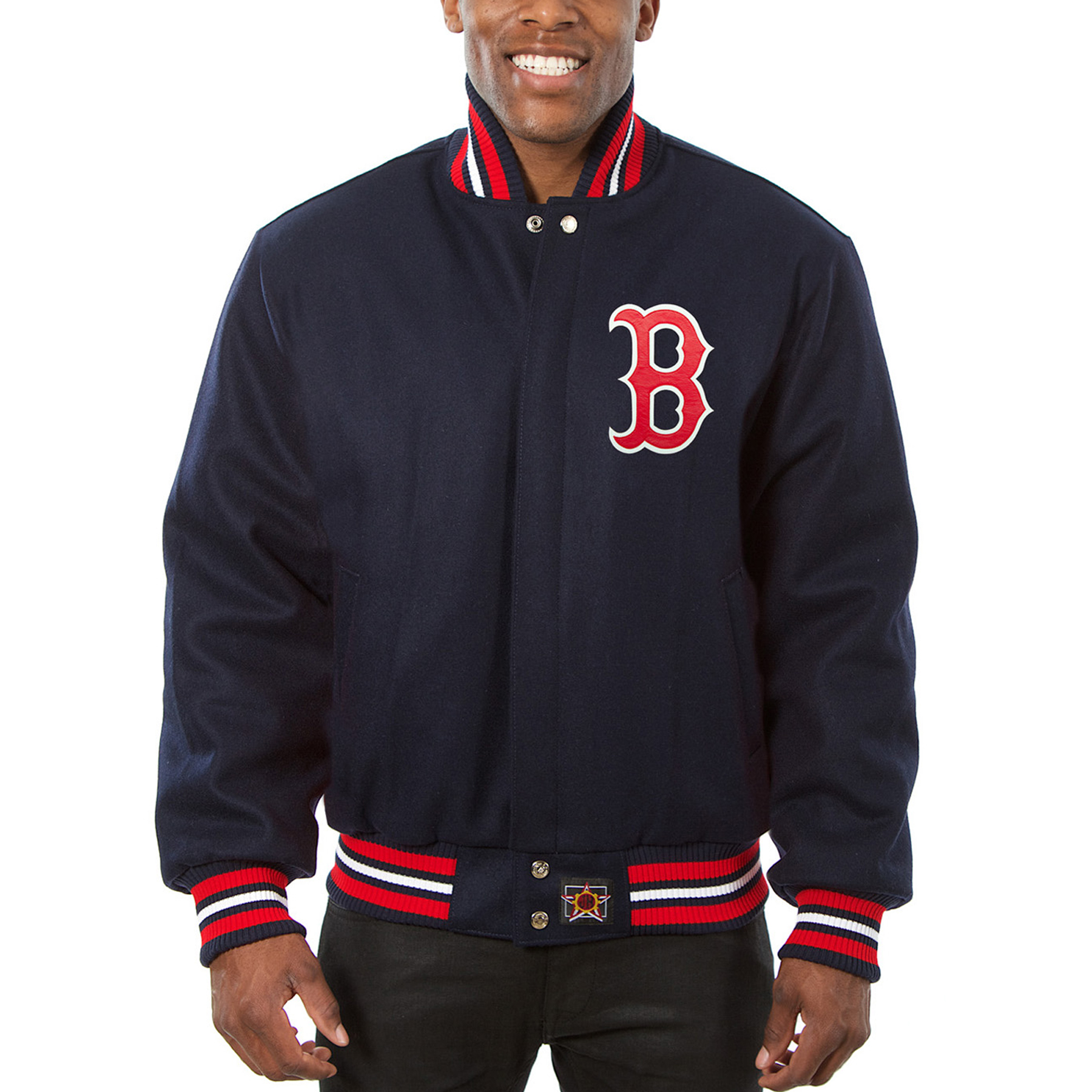 Boston Red Sox JH Design Team Color Wool Jacket - Navy