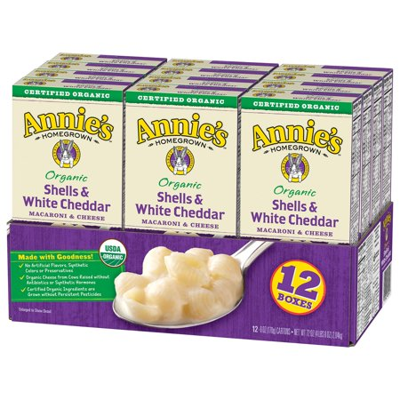 Annie's Organic Shells & White Cheddar Macaroni & Cheese (12
