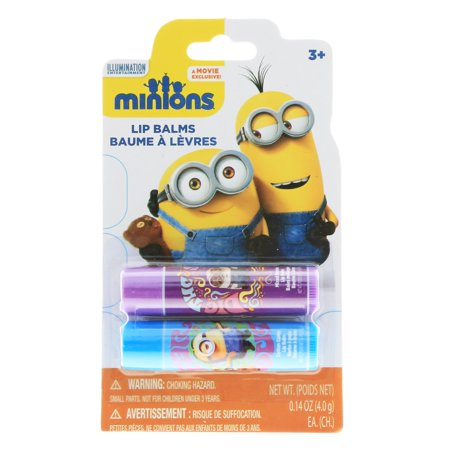 Despicable Me Minions Lip Balm 2pk With Fun Flavors - Minion Makeup