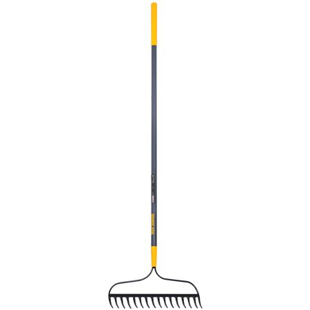 14 Tine Bow Rake - True Temper 2811500 16-Tine Welded Bow Rake with Fiberglass Handle