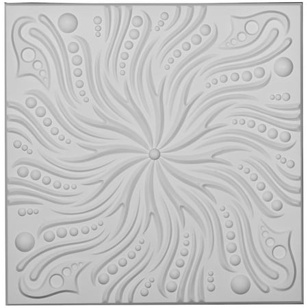 "24""W x 24""H x 5/8""P Swirl Ceiling Tile"