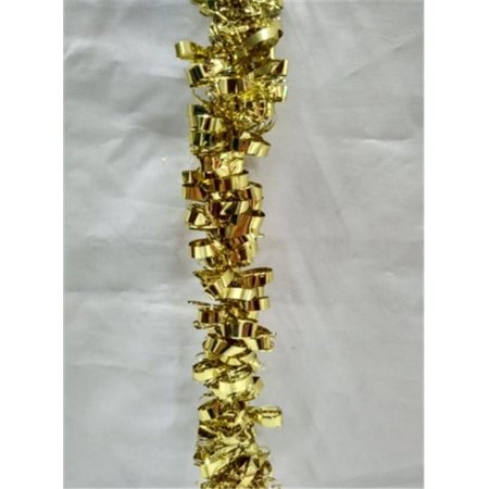 Queens of Christmas WL-TGAR-100-GO 100 ft. Gold Metallic Tinsel Garland