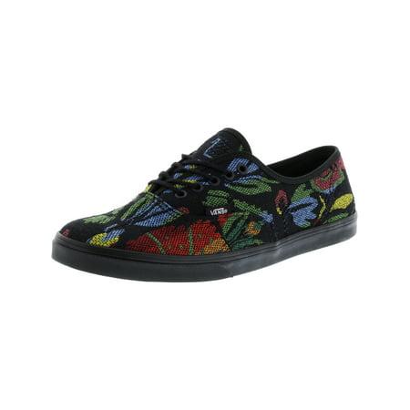 c57a56c593 Vans - Vans Authentic Lo Pro Tapestry Floral Black   Ankle-High Fabric  Skateboarding Shoe - 10M 8.5M - Walmart.com