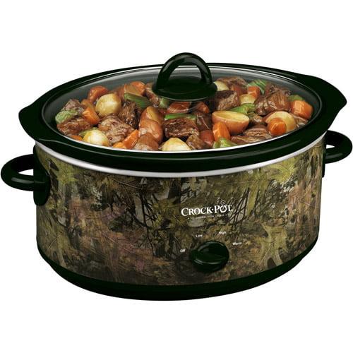 Crock-Pot 5.5-Quart Slow Cooker, Camouflage Print