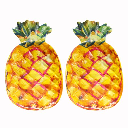 Mainstays Melamine Figural Pineapple Serve Tray, 2-Pack