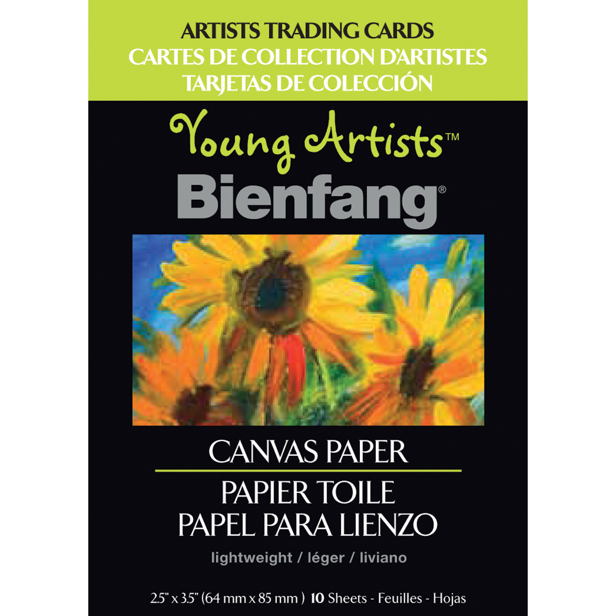 Young Artist Bienfang Trading Cards 2.5 Inch X 3.5 Inch 10 Sheets-