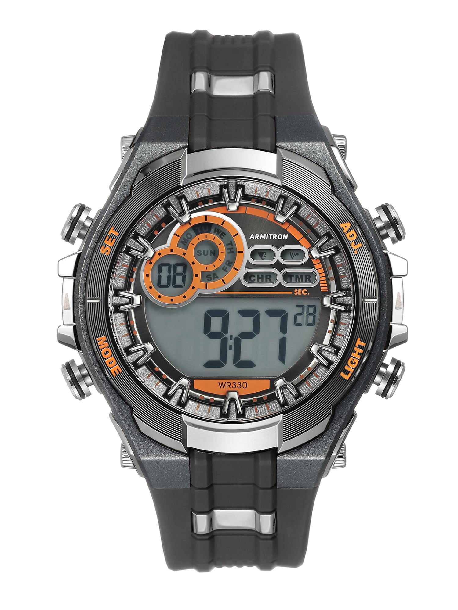 2ecdce5faf6a Armitron - Men's Multi-Functional Digital Gray and Black Watch - Walmart.com