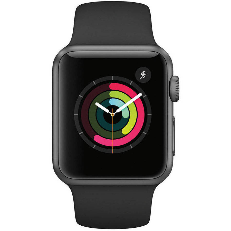Apple Watch Gen 2 Series 1 42mm Space Gray Aluminum Black Sport Band Refurbished by Apple