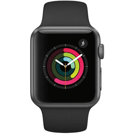 Apple Watch Gen 2 Series 1 42mm Space Gray Aluminum - Black Sport Band - Refurbished