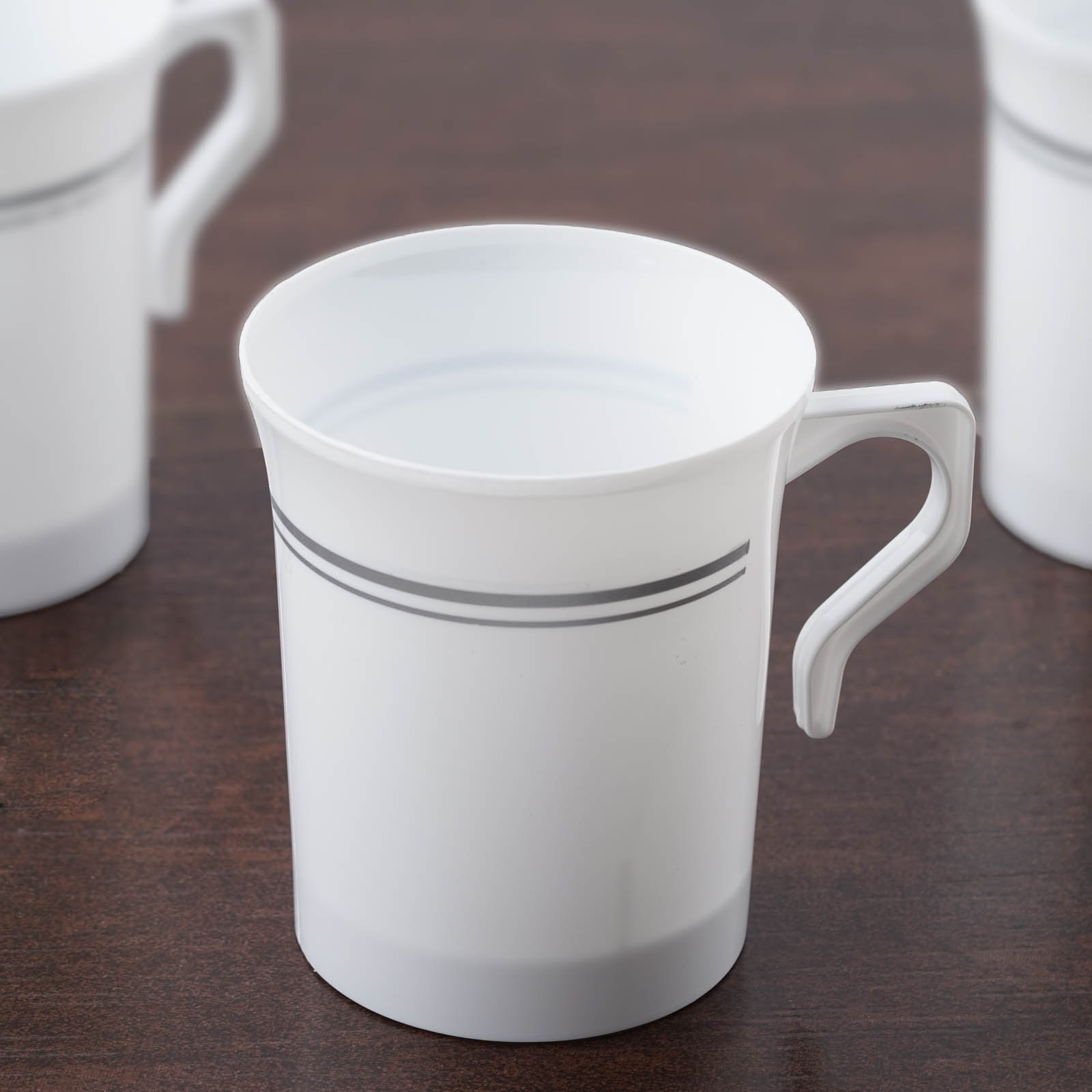 Efavormart 40 Pcs - 8oz Disposable Plastic Coffee Cups for Catering Wedding Birthday Party Banquet Events - Tres Chic Collection