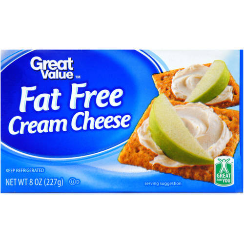 great value fat free cream cheese 8 oz walmart com